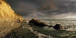Sunset on Arroyo Burro Beach after a Storm by Macduff Everton