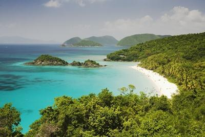 Trunk Bay at St. John Island in U. S. Virgin Islands