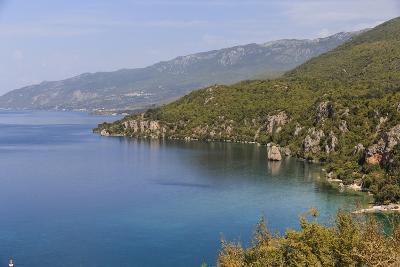 Macedonia, Ohrid and Lake Ohrid, Coastline Landscape-Emily Wilson-Photographic Print