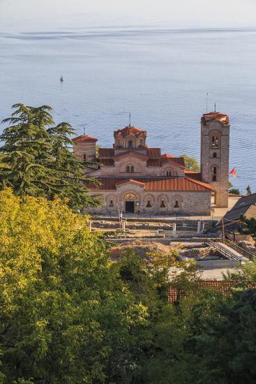 Macedonia, Ohrid, Lake Ohrid, Saint Panteleimon Monastery on Plaosnik-Emily Wilson-Photographic Print