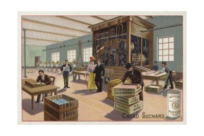 Machine for Making Cocoa into Chocolate--Giclee Print