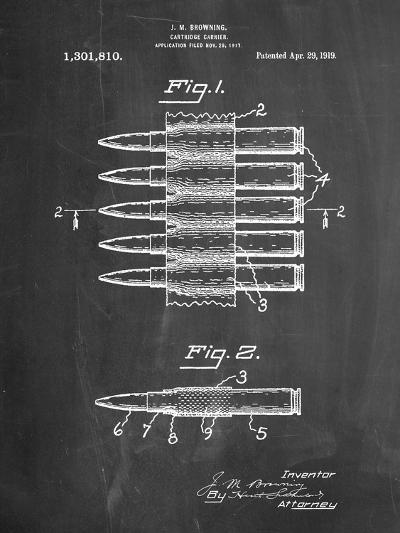 Machine Gun Bullet Carrier Belt Patent-Cole Borders-Art Print