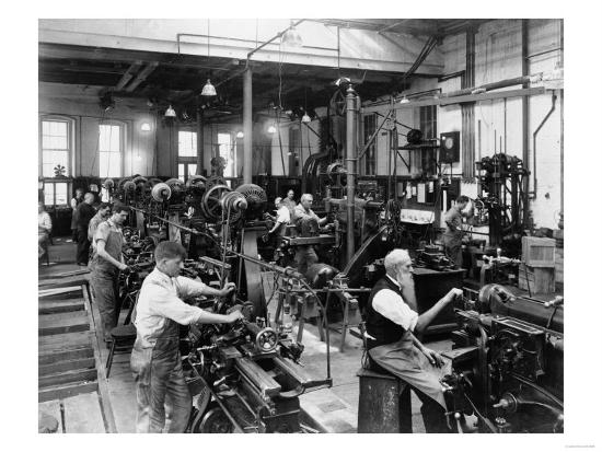 Machine Shop in Government Print Office Photograph - Washington, DC-Lantern Press-Art Print