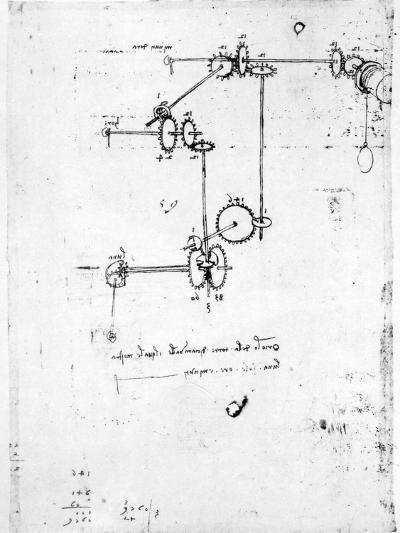 Machinery Designs-Leonardo da Vinci-Giclee Print