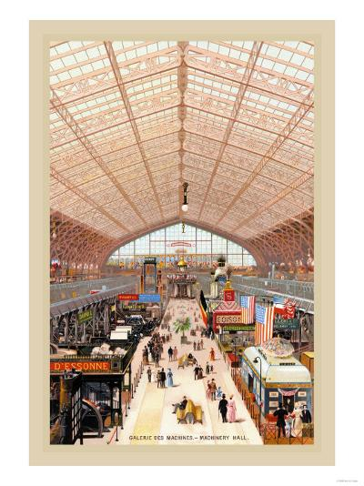 Machinery Hall at the Paris Exhibition, 1889--Art Print