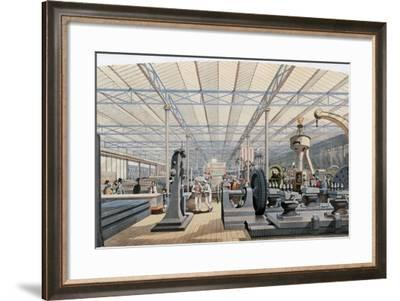 Machinery Hall, Crystal Palace Exhibition, London, 1851--Framed Giclee Print