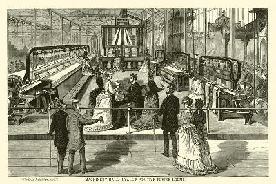 Machinery Hall, Lyall's Positive Power Looms--Giclee Print