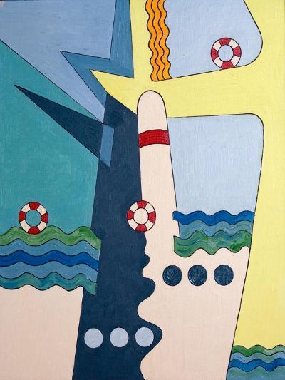Machinery Taming the Waves, 2006-Jan Groneberg-Giclee Print
