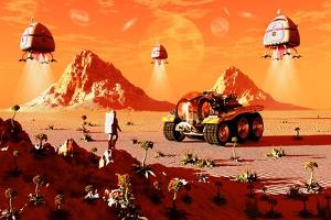 Machines Arriving on an Alien World Which Is About to Be Colonized
