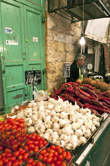 Machne Yehuda Market, Jerusalem, Israel-David Noyes-Photographic Print