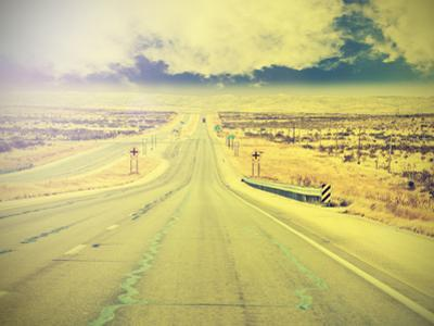 Endless Country Highway, Vintage Retro Effect. by Maciej Bledowski