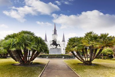Jackson Square in French Quarter of New Orleans, Usa by Maciej Bledowski