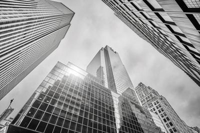 Looking up at Manhattan Skyscrapers, New York City by Maciej Bledowski