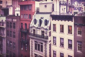 New York City Old Residential Buildings, Vintage Colors by Maciej Bledowski