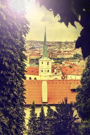 Prague, Czech Republic, Vintage Retro Instagram Style.