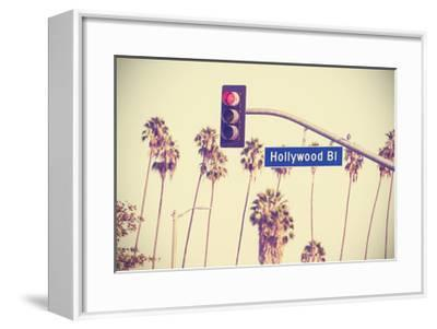 Vintage Retro Toned Hollywood Boulevard Sign, Los Angeles. by Maciej Bledowski