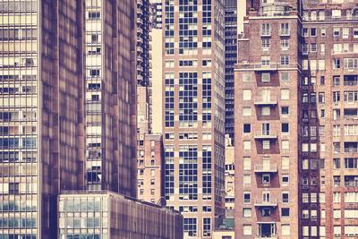 Vintage Toned Picture of the New York City Architecture