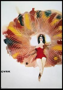 Polish Circus Poster, 1968 by Maciej Urbaniek