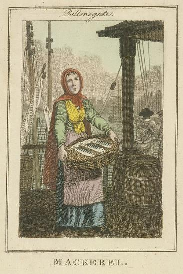 Mackerel , Cries of London, 1804-William Marshall Craig-Giclee Print
