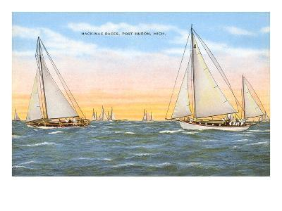 Mackinac Races, Port Huron, Michigan--Art Print