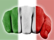 Fist With Italian Flag-macky_ch-Art Print