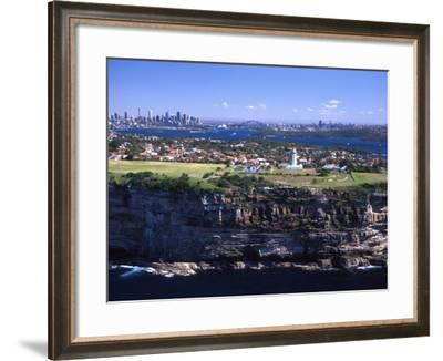Macquarie Lighthouse, Sydney, Australia-David Wall-Framed Photographic Print