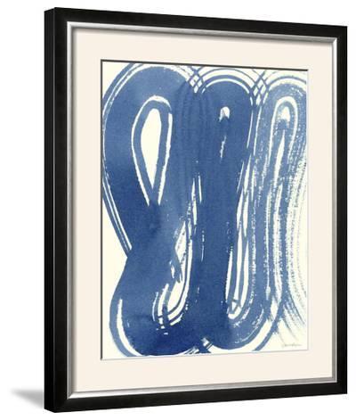 Macrame Blue V-Vanna Lam-Framed Photographic Print