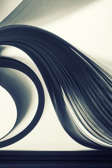 Macro View of Abstract Paper Curves-Nomad_Soul-Photographic Print