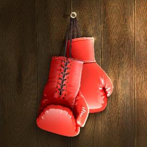 Boxing Gloves on Wall by Macrovector