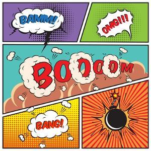 Comic Speech Bubbles by Macrovector