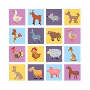 Farm Animals Set by Macrovector
