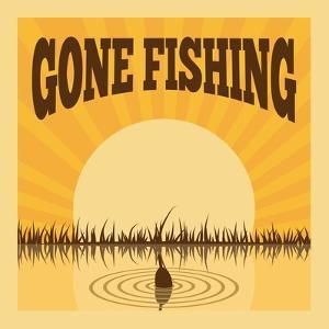 Fishing Poster by Macrovector
