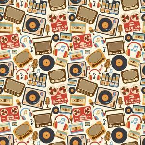Music Retro Seamless Pattern by Macrovector