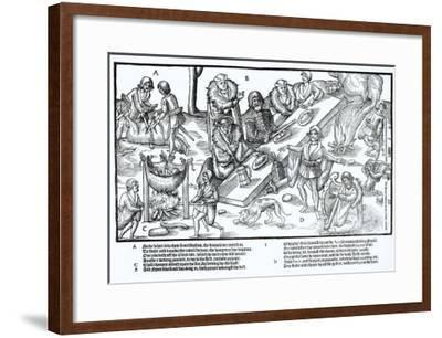 MacSweeney's Feast, Plate 3 from 'The Image of Ireland' by John Derricke, 1581-Friedrich Van Hulsen-Framed Giclee Print