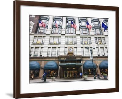Macy's Department Store, Broadway, Manhattan-Amanda Hall-Framed Photographic Print