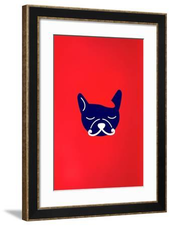 Mad French Bulldog--Framed Art Print
