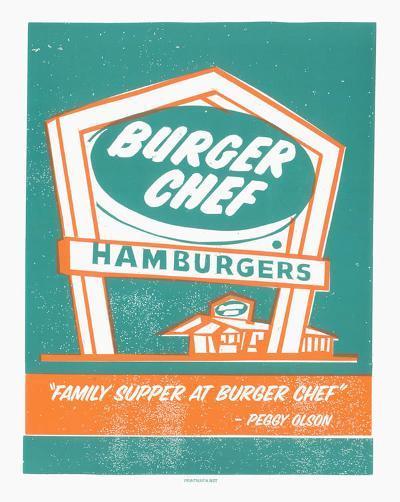 Mad Men Burger Chef-Print Mafia-Serigraph