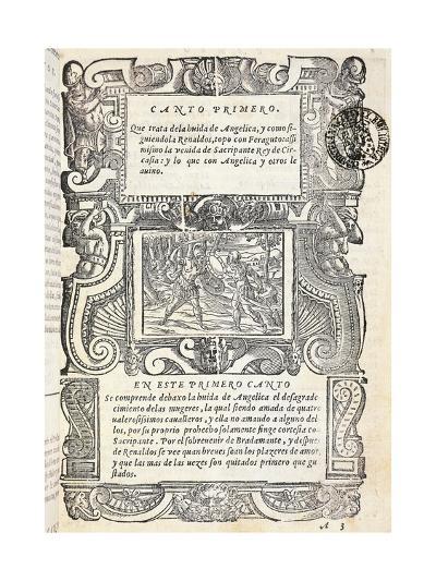 Mad Orlando, Epic Poem by Ludovico Ariosto--Giclee Print