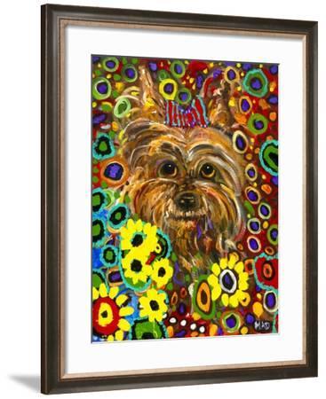 Mad Yorkie-MADdogART-Framed Giclee Print
