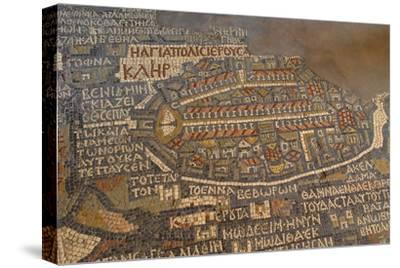 Madaba Mosaic Map. Detail of Jerusalem, 542-570