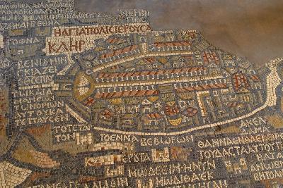 Madaba Mosaic Map. Detail of Jerusalem, 542-570--Photo