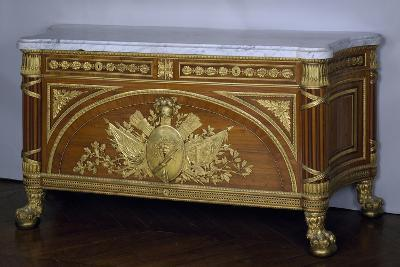 Madagascar Rosewood and Amaranth Commode with Gilt Bronze and White Marble Top, 1786-1787-Guillaume Benneman-Giclee Print
