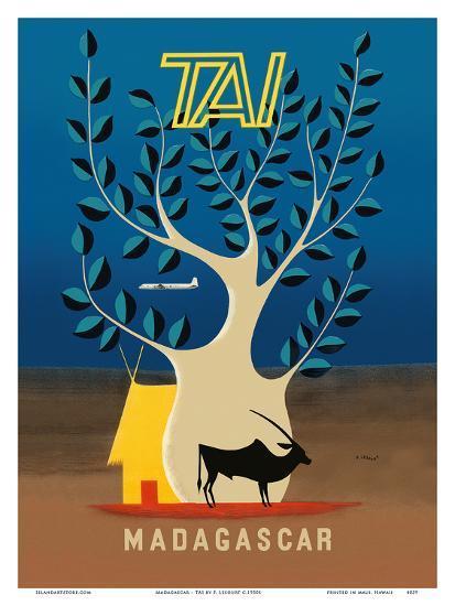 Madagascar - TAI (Transports Aériens Intercontinentaux)-F^ Lesourt-Art Print