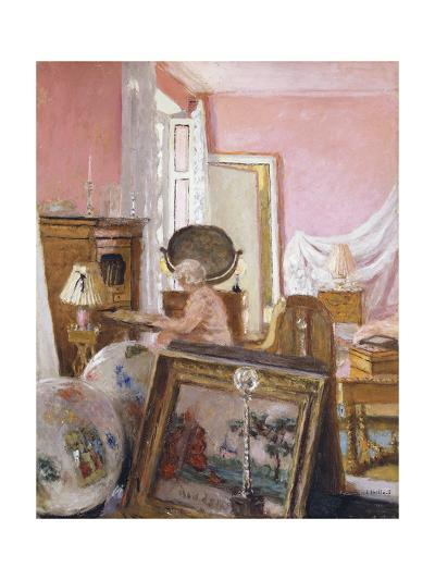 Madam Hessel in Her Bedroom at Chateau Clayes; Madame Hessel Dans Sa Chambre Au Chateau Des Clayes-Edouard Vuillard-Giclee Print