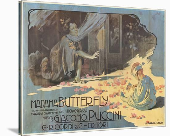 Madama Butterfly-Adolfo Hohenstein-Stretched Canvas Print