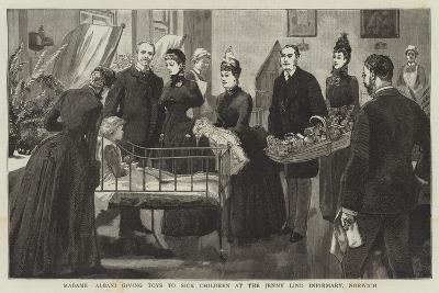Madame Albani Giving Toys to Sick Children at the Jenny Lind Infirmary, Norwich--Giclee Print