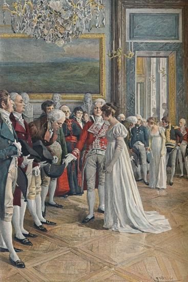 'Madame Bonaparte Receiving Embassadors at the Tuileries', 1896-Unknown-Giclee Print