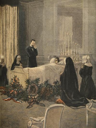 Madame Carnot on Her Deathbed, Illustration from 'Le Petit Journal: Supplement Illustre'-French-Giclee Print