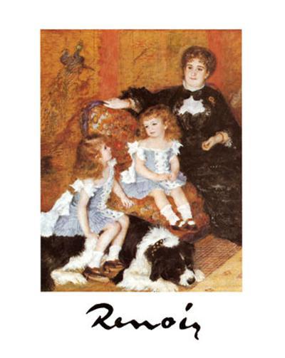 Madame Charpentier and Her Children-Pierre-Auguste Renoir-Art Print