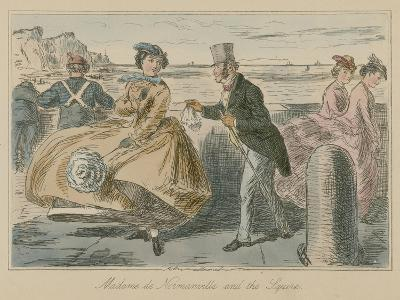 Madame De Normanville and the Squire-John Leech-Giclee Print